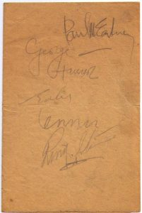 autógrafo de los Beatles
